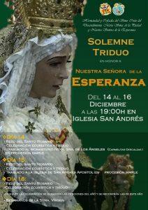 Triduo y traslado de Ntra. Sra. de la Esperanza (Parroquia de San Andrés -Badajoz-)