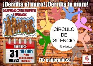 Círculo de silencio (Paseo de San Francisco -Badajoz-)