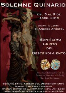 Quinario al Cristo del Descendimiento (Iglesia San Andrés -Badajoz-)