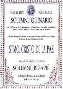 Quinario Cristo de la Paz (Parroquia San Roque -Badajoz-)