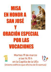Misa san José (Capilla UEx -Badajoz-)