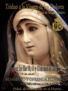 Triduo Virgen de los Dolores (Iglesia de la Concepción -Badajoz-)