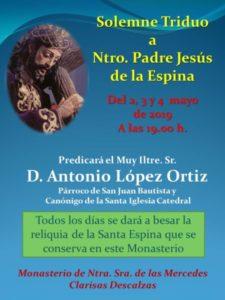 Triduo al Cristo de la Espina (Monasterio Clarisas Descalzas -Badajoz-)