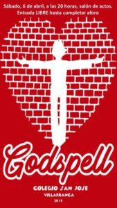 Musical Godspell (Salón de actos, Colegio San José -Villafranca de los Barros-)