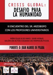 III Encuentro del Arzobispo con profesores universitarios (Salón de actos Colegio de Farmacéuticos -Badajoz-)