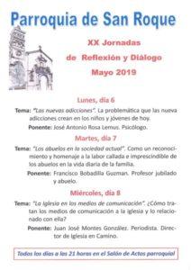 XX Jornadas de reflexión y diálogo (Salón de actos parroquia San Roque -Badajoz-)