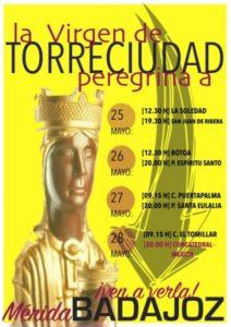 Virgen de Torreciudad en Badajoz y Mérida