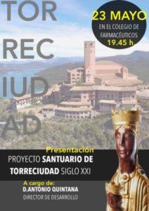 Conferencia Proyecto Santuario de Torreciudad S. XXI (Colegio de Farmacéuticos -Badajoz-)