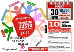 Círculo de silencio Comercio Justo (Plaza San Francisco -Badajoz-)