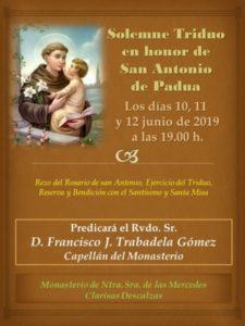 Triduo San Antonio de Padua (Monasterio Clarisas Descalzas -Badajoz-)
