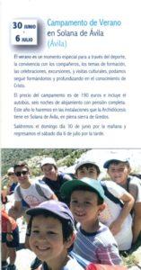 Campamento monaguillos (Solana de Ávila)