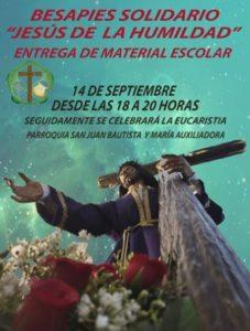 Besapies solidario Jesús de la Humildad (Parroquia San Juan Bautista y María Auxiliadora -Mérida-)