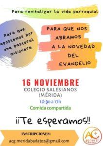 Jornada de presentación de la ACG (Colegio Mª Auxiliadora, Salesianos -Mérida-)