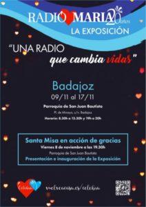 """Exposición """"Una radio que cambia sus vidas"""" (Parroquia San Juan Bautista -Badajoz-)"""