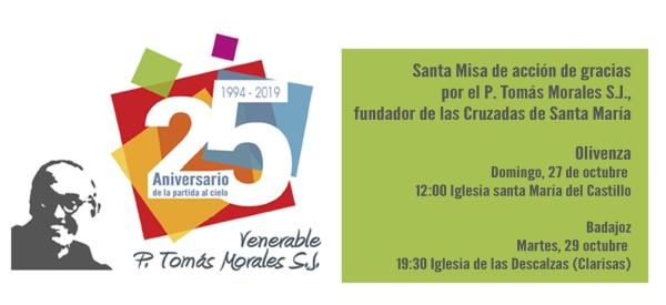 Misa por el P. Tomás Morales s.j. (Iglesia Santa María del Castillo -Olivenza-)
