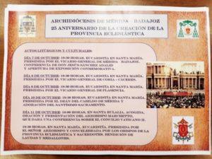 XXV aniversario de la constitución de la Provincia Eclesiástica de Mérida-Badajoz (Concatedral y Basílica de Santa Eulalia -Mérida-)