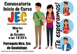 Convocatoria inicio curso JEC (Parroquia Ntra. Sra. de Guadalupe -Badajoz-)