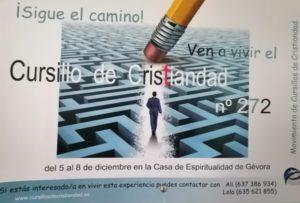 Cursillo de cristiandad nº 272 (Casa de Espiritualidad -Gévora-)