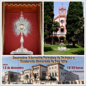 Encuentro Adoración Perpetua de Badajoz y Seminario diocesano (Seminario de Badajoz)