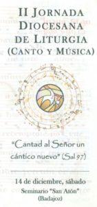 II Jornada diocesana de Liturgia (Seminario de Badajoz)