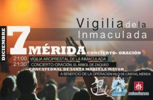 Vigilia arciprestal de la Inmaculada (Concatedral -Mérida-)