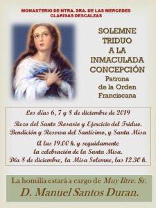Triduo a la Inmaculada Concepción (Templo Clarisas Descalzas -Badajoz-)