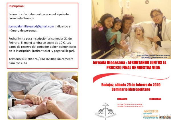 """Jornada """"Afrontando juntos el proceso final de nuestra vida"""" (Seminario de Badajoz)"""