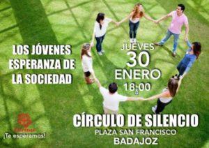 Círculo de silencio (Plaza San Francisco -Badajoz-)