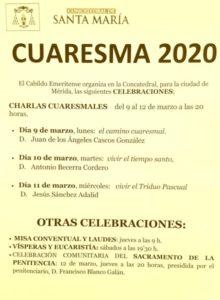 Charla cuaresmal (Concatedral de Mérida)