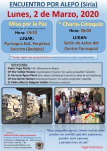 Encuentro por Alepo (Siria) (Parroquia Ntra. Sra. del Perpetuo Socorro -Badajoz-))