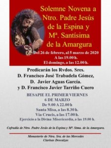 Novena Cristo de la Espina (Convento Clarisas Descalzas -Badajoz-)