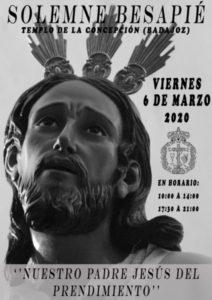 Besapié Cristo del Prendimiento (Templo de la Concepción -Badajoz-)