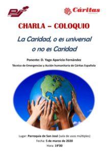 """Charla """"La Caridad o es universal o no es Caridad"""" (Parroquia San José -Badajoz-)"""