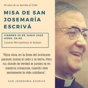 Misa de san Josemaría Escrivá (Catedral de Badajoz)
