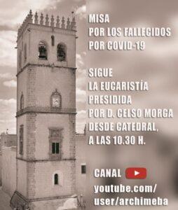 Misa fallecidos por COVID-19 (Catedral de Badajoz)