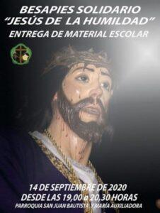 Besapie solidario a Jesús de la Humildad (Parroquia San Juan Bautista y Mª Auxiliadora -Mérida-)