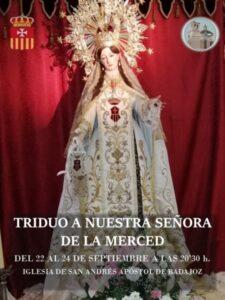 Triduo Ntra. Sra. de la Merced (Parrroquia San Andrés -Badajoz-)