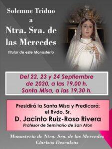 Triduo Ntra. Sra. de las Mercedes (Templo Monasterio Clarisas Descalzas -Badajoz-)