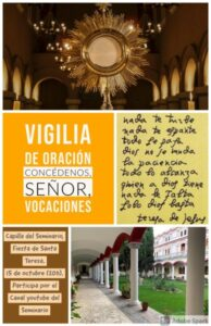 Vigilia oración vocaciones (Capilla del Seminario -Badajoz-)
