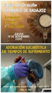 Vigilia de oración (Seminario de Badajoz)