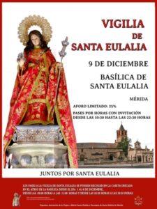 Vigilia Santa Eulalia (Basílica Santa Eulalia -Mérida-)