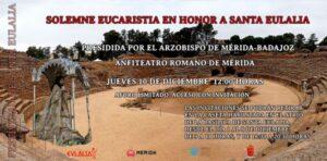 Eucaristía en honor a santa Eulalia (Anfiteatro Romano -Mérida-)