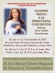 Triduo Inmaculada (Convento de las Clarisas Descalzas -Badajoz-)