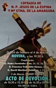 Novena al Cristo de la Espina (Templo Clarisas Descalzas -Badajoz-)