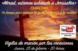 Vigilia de oración por las vocaciones (VIRTUAL)