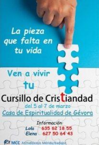 Cursillo de Cristiandad (Casa de Espiritualidad -Gévora-)