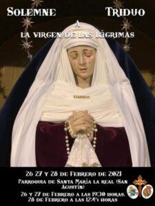 Triduo Virgen de las Lágrimas (Parroquia Santa María la Real -Badajoz-)