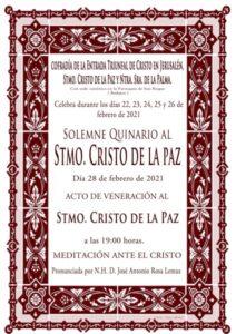 Quinario al Cristo de la Paz (Parroquia San Roque -Badajoz-)
