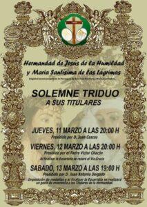 Triduo a Jesús de la Humidad y Mª Stma. de las Lágrimas (Parroquia San Juan Bautista y Mª Auxiliadora -Mérida-)