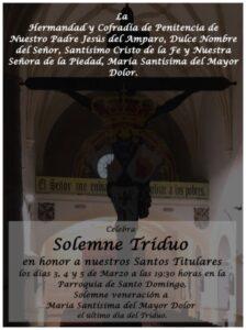 Triduo titulares cofradía Santo Domingo (Parroquia Santo Domingo -Badajoz-)